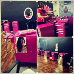 Kadillac Barbie's Beauty Academy in OK getting setup to open in the Fall  Salon carts w/optional side shelves