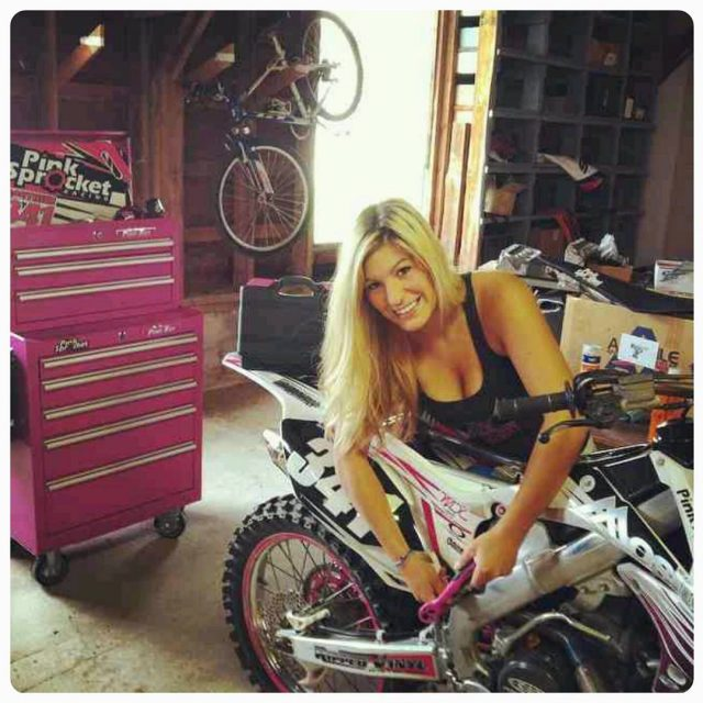 cynthia341 pinksprocketracing Loves working on her toys and pink toolshellip