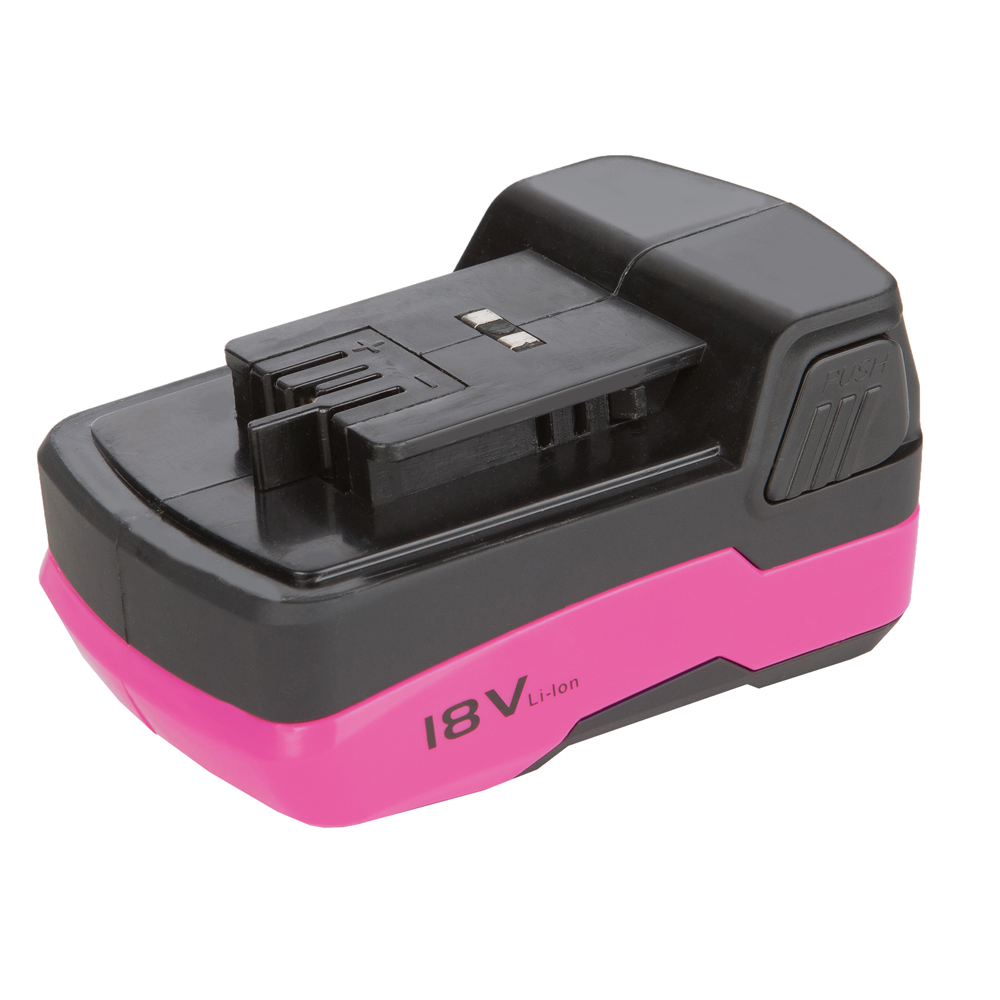 18 volt rechargeable lithium ion replacement battery the original pink box. Black Bedroom Furniture Sets. Home Design Ideas