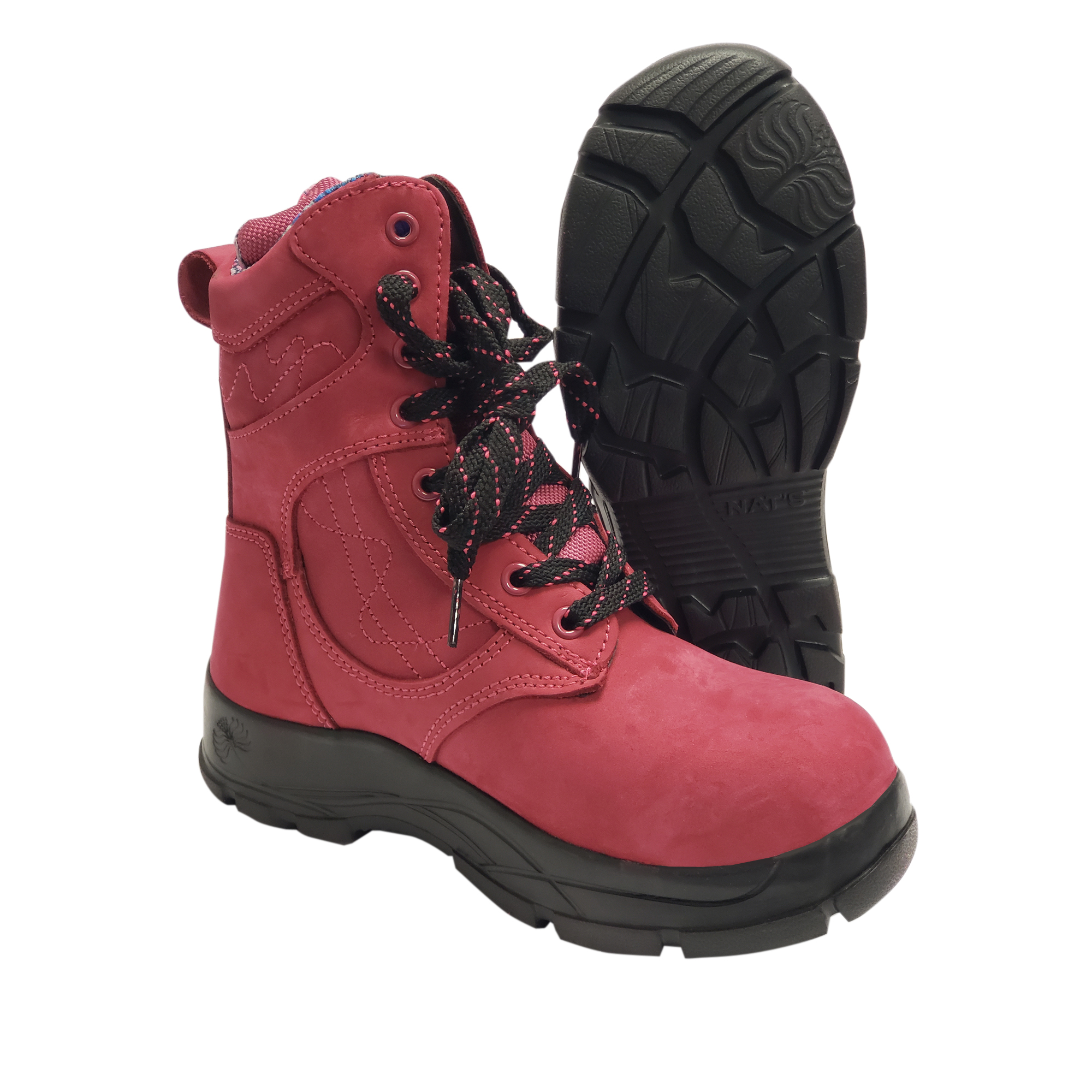 new style b6958 aae9a 8-Inch Ultra Light Work Boot with Steel Toe, Raspberry